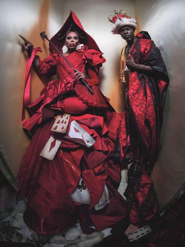 24 QUEEN AND KING OF HEARTS - RUPAUL AND DJIMON.JPG